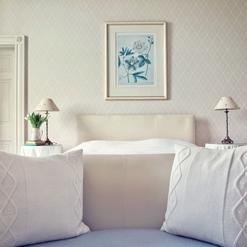 White Bedroom Bed